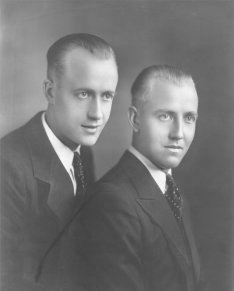 Sigvard (left) and Sigurd Normark (right)